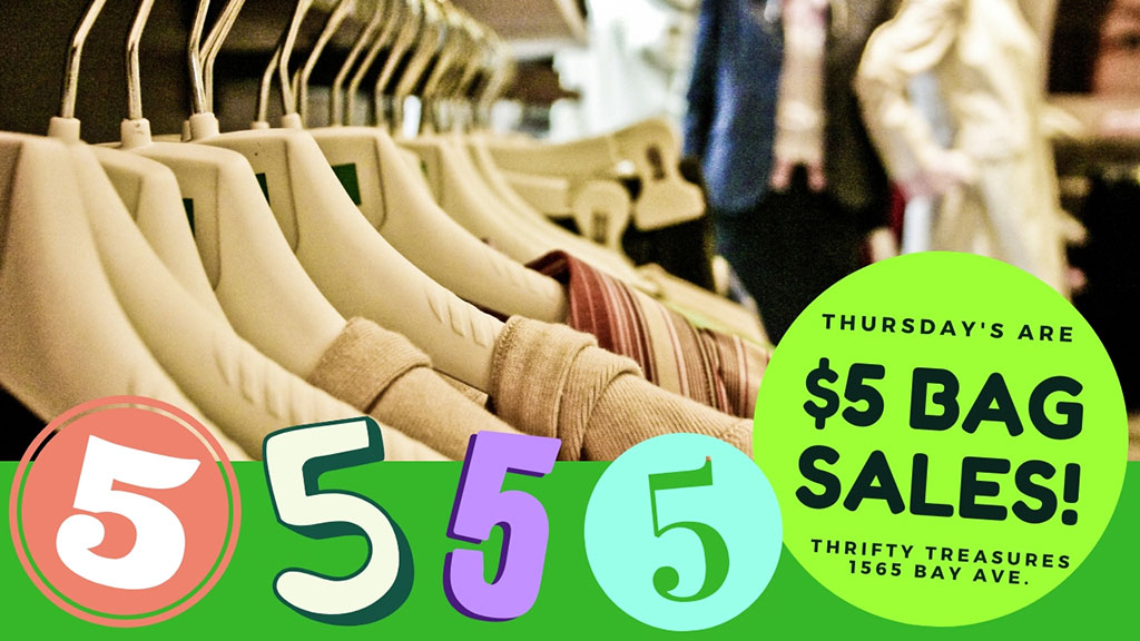 Thursdays are $5 Bag Sales!