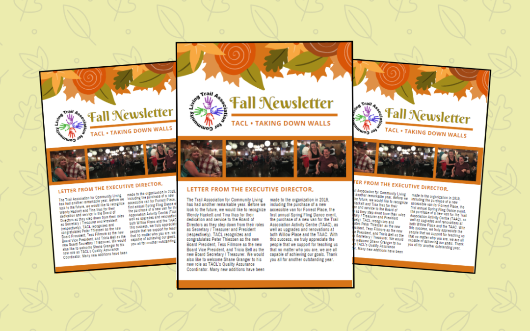 Check out the Fall Newsletter